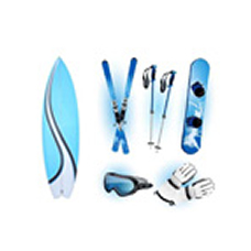 Image:Surfboards and skis